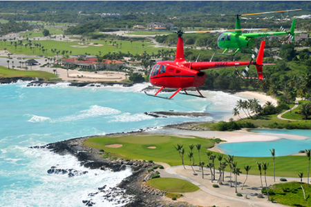 Helicopter tours in Punta Cana
